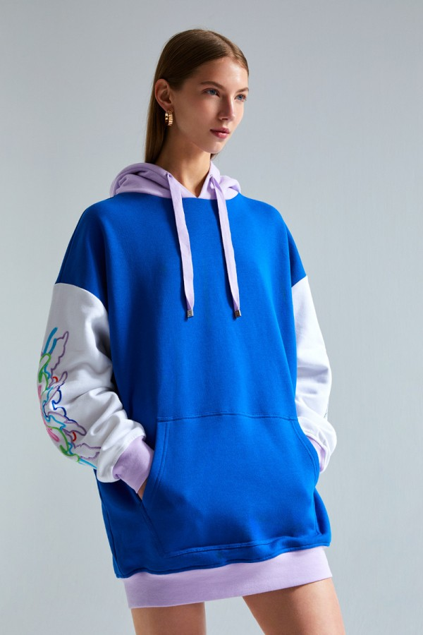 Embroidered hoodie  HOVER