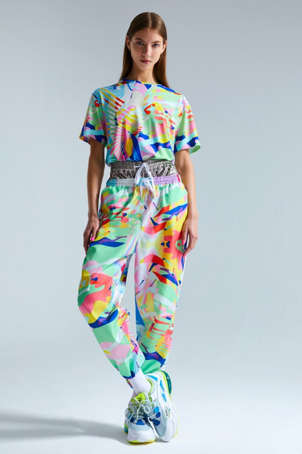 Printed lightweight track pants  HOVER
