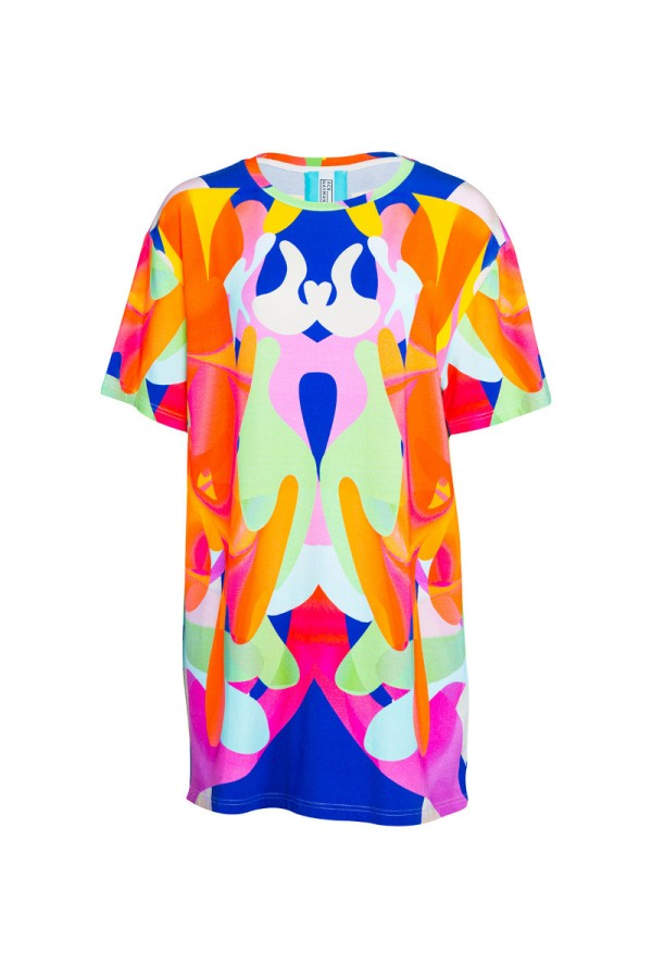 Printed viscose t-shirt  TN