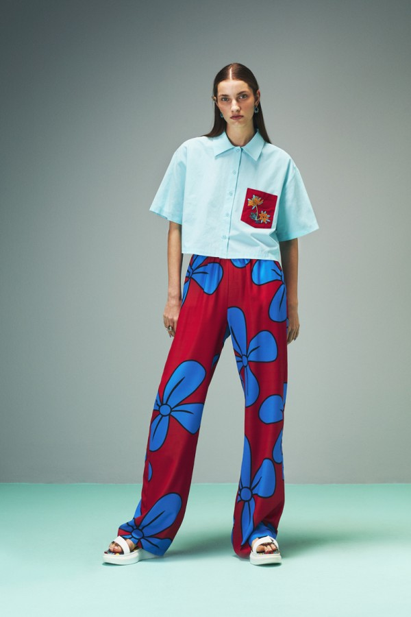 Polin Floral Trousers HOVER