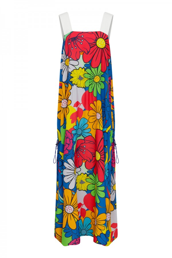 Simi Floral Printed Maxi Dress TN