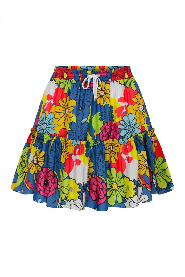 Lina Floral Printed Skirt HOVER